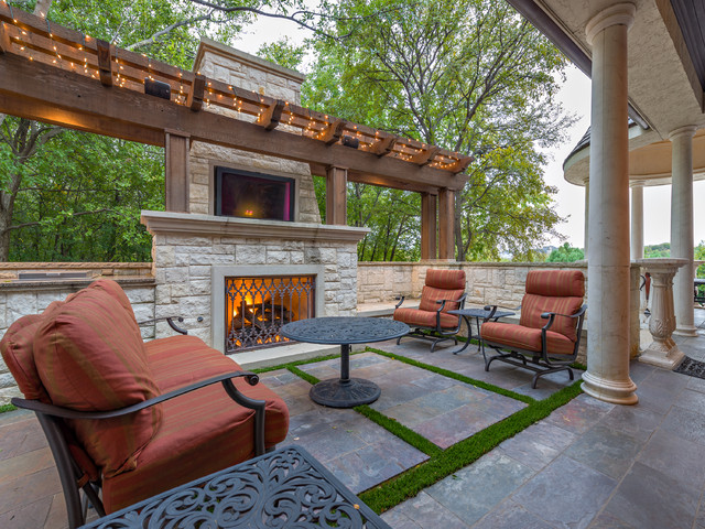 Private Residence   Formal Pool And Garden Pavilion Traditional Patio