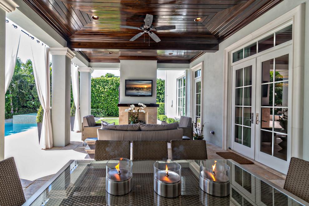 Classic Contemporary Transitional Patio Miami By Gervis Design Studio