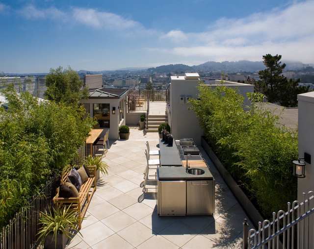 Classical Twist: A Modern Townhouse with Traditional Reference transitional-patio