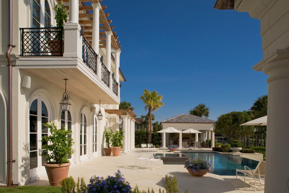 阳台地砖地中海风格装修图片