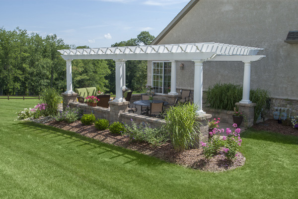 Classy Pergola With Paver Patio Traditional