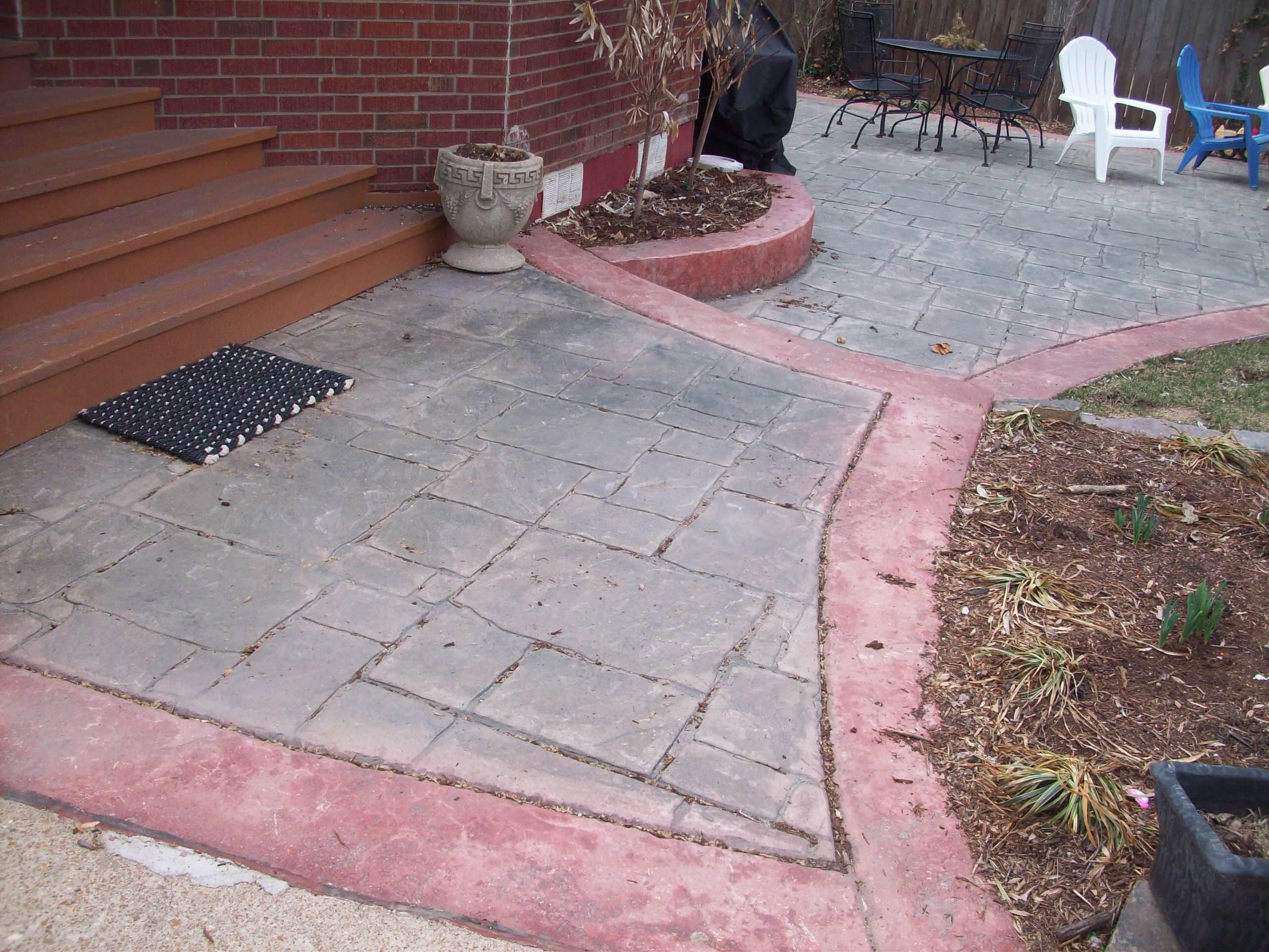 Clayton, Missouri multi-colored stamped concrete patio