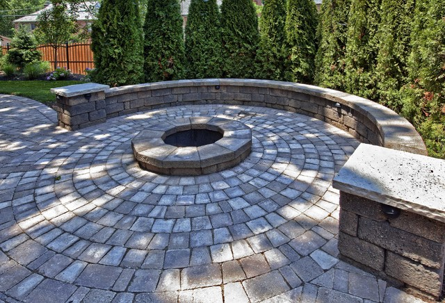 Patio pavers with fire pit : Home addition traditional patio st louis by hibbs homes llc