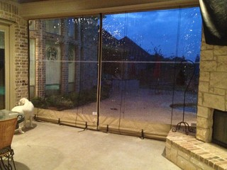 Clear Vinyl Patio Enclosure Weather Curtains Glaves Residential Traditional Austin By Southern Enclosures