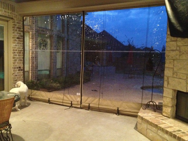 Perfect Clear Vinyl Patio Enclosure Weather Curtains   Glaves Residential  Traditional Patio