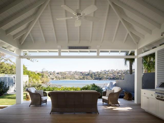 Clontarf beach pavilion style patio sydney