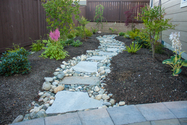 Close Up Of Flagstone Walkway Rustic Patio Seattle