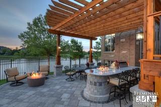 Cobblestone Landscape Renovation With Paver Pool Deck