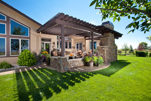 Backyard Pergola Designs modern simple pergola and gazebo design trends attached to house roof for backyard hardscaping ideas with wood pergola Pergola Design By Fort Collins Design Build Firms Highcraft Builders