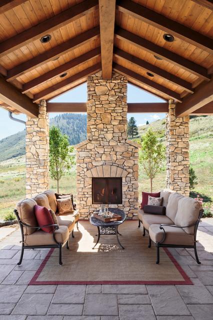 Colorado Tuscan Mountain Home Mediterranean Patio