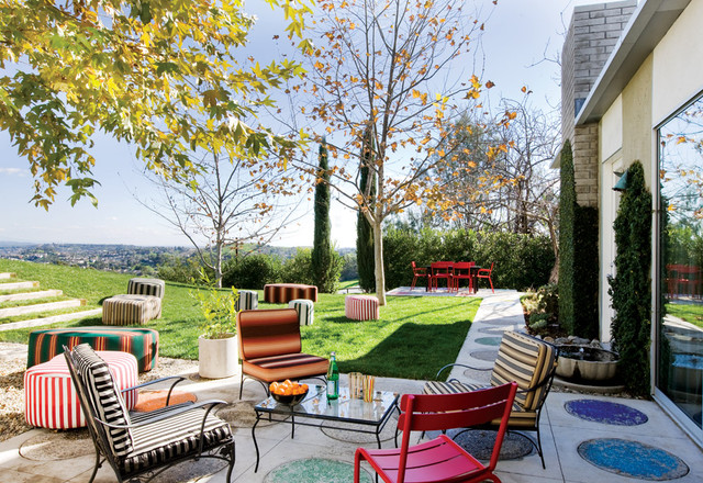 Colorful Outdoor Furniture Eclectic Patio San Francisco By California Home Design
