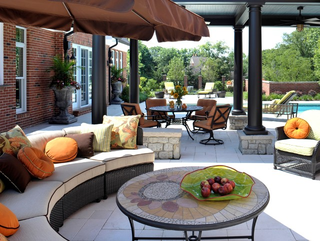 Colorful Outdoor Space eclectic-patio