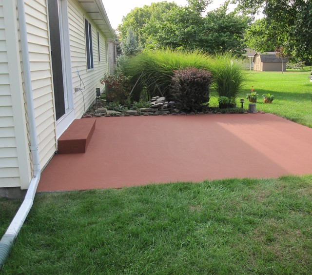 ColorPave | Color Coating A Concrete Patio Traditional Patio