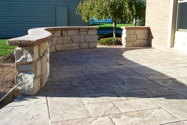 Concrete and Stone Work traditional-patio