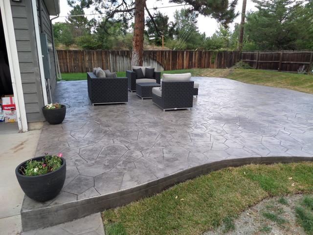 concrete modern patio denver by cf landscape concrete