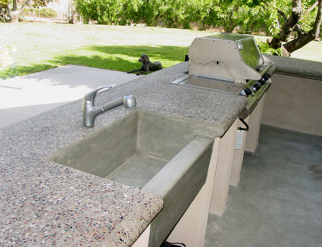 Concrete Countertops Bonnie Cove Project Traditional Patio Los Angeles By Dave Acevedo