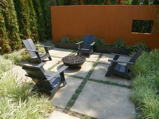 Concrete Fire Pits And Fireplace Surrounds Modern Patio