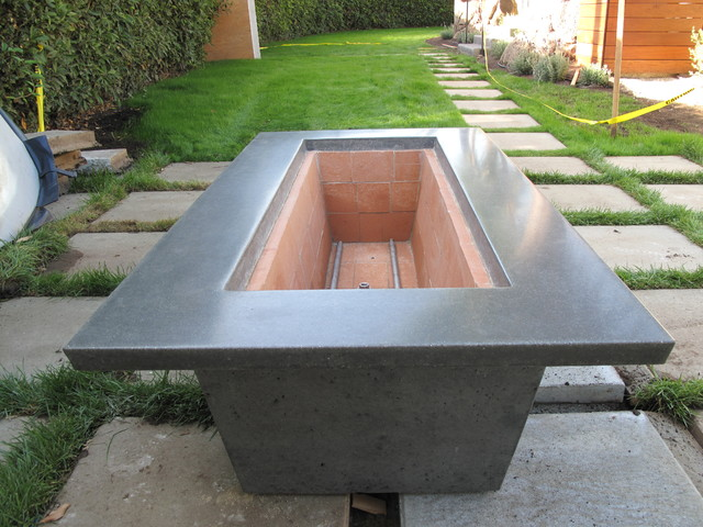 concrete block fire pit designs stamped patio gas pits craftsman 60 in brown round kit
