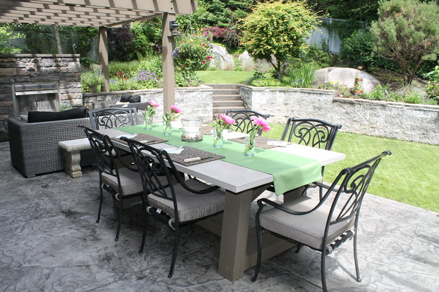 concrete outdoor furniture traditional patio vancouver by concrete patio set browse cement furniture