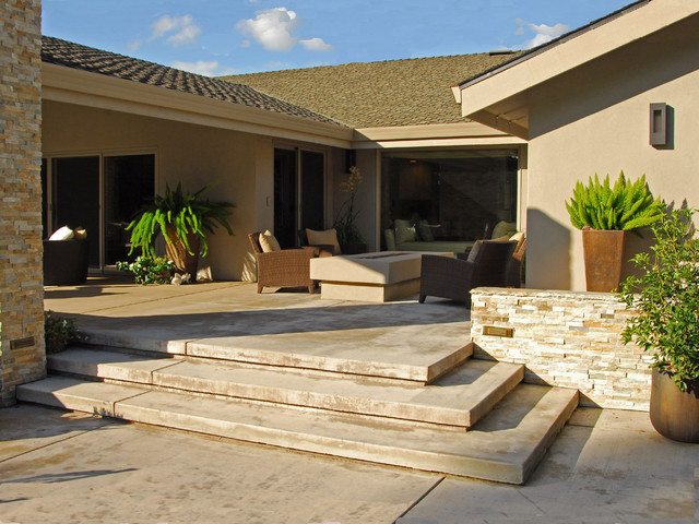 Contemporary Backyard Makeover Contemporary Patio