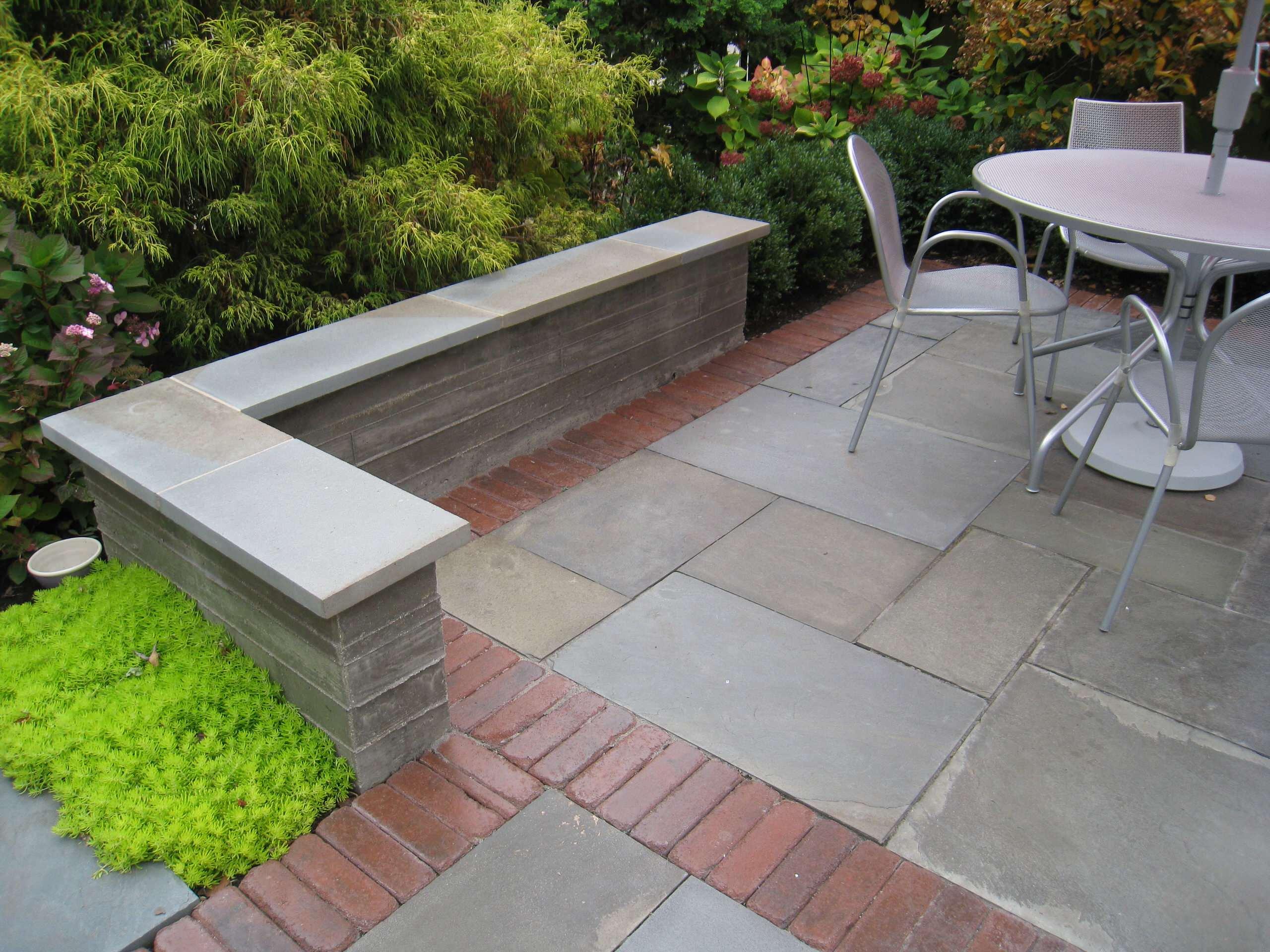 contemporary city patio and garden