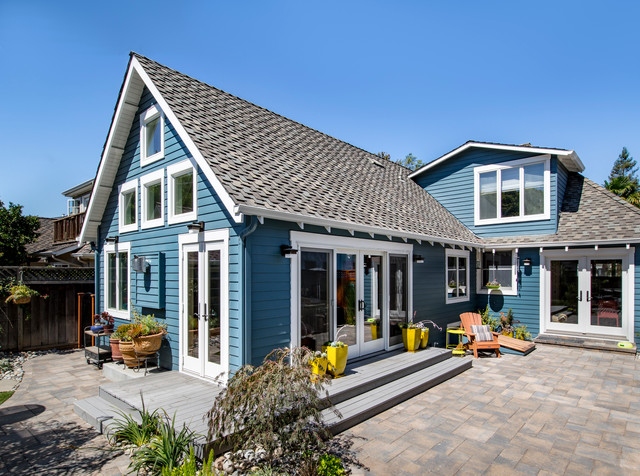 Contemporary Cottage Addition Transitional Patio By