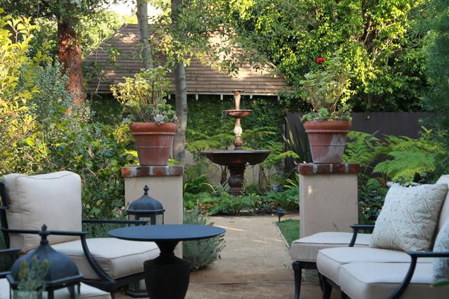 Contemporary English Garden Mediterranean Patio