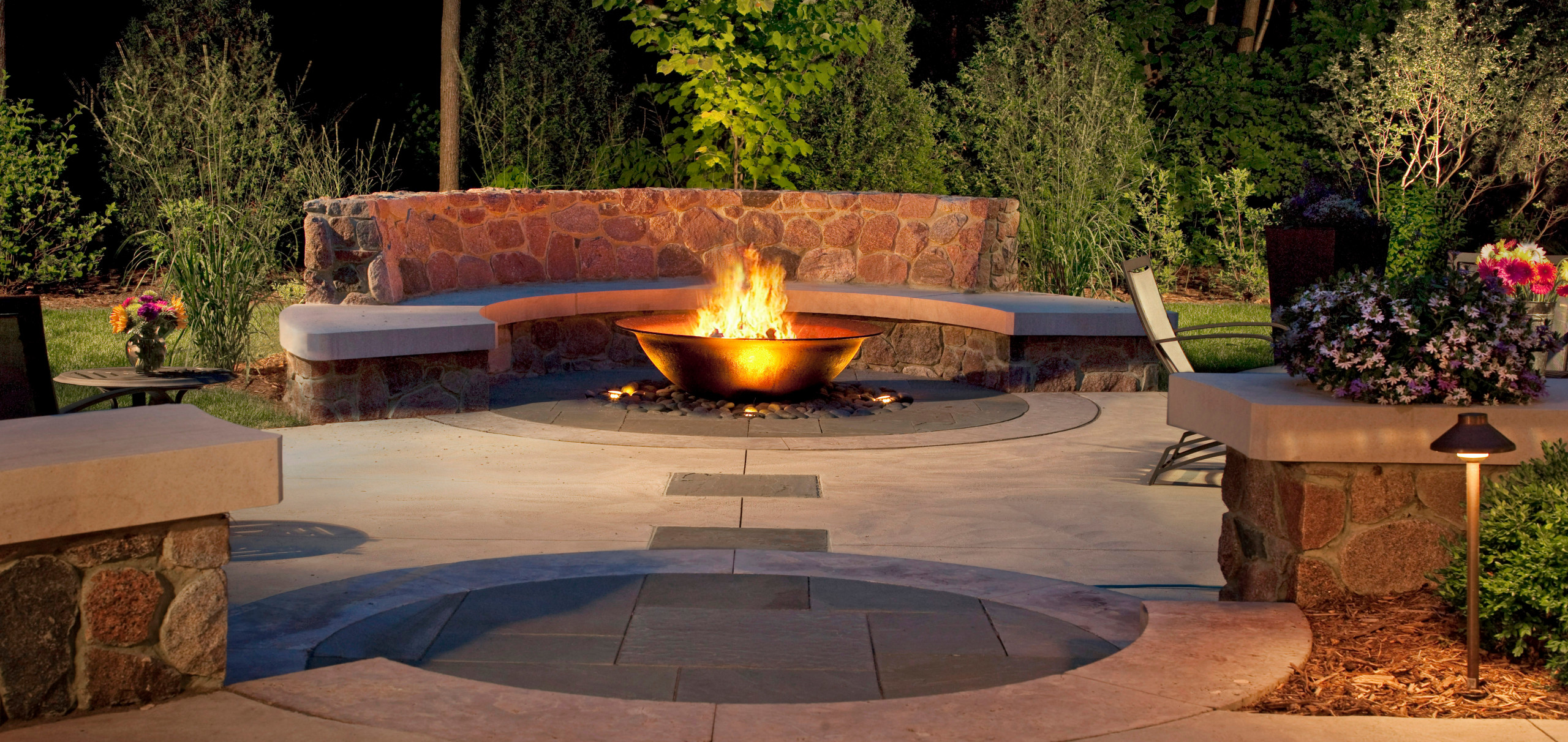 Contemporary Fire Bowl - Brookfield