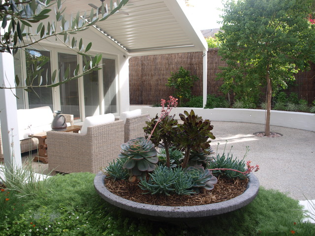 Contemporary garden cottesloe perth contemporary for Courtyard landscaping perth