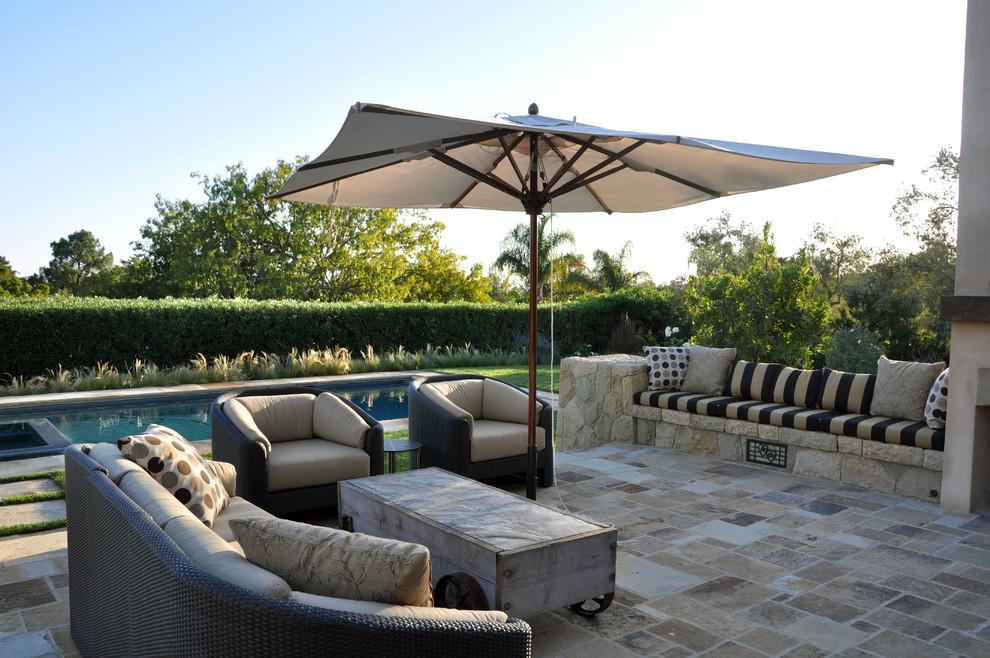 Contemporary Montecito Retreat - Mediterranean - Patio ... on Arcadia Backyard Designs id=18223