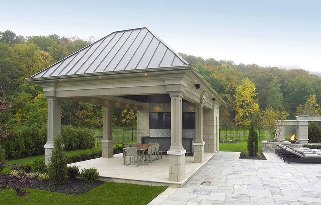 Contemporary Outdoor Dining Area traditional-patio
