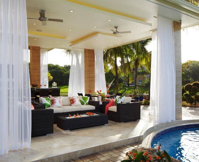 contemporary outdoor dining - tropical - patio - miami - by ... - Tropical Patio Ideas