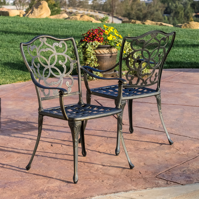 Contemporary outdoor patio ft outdoor cast aluminum for Great deals on outdoor furniture