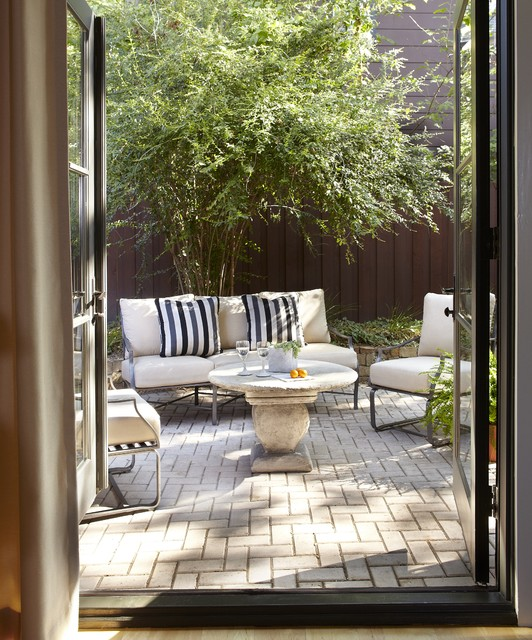 Small Patio For Townhouse Contemporary Patio Dallas