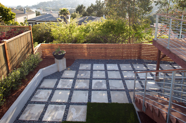 Cast Concrete Patio Contemporary Patio San Francisco By Jeff