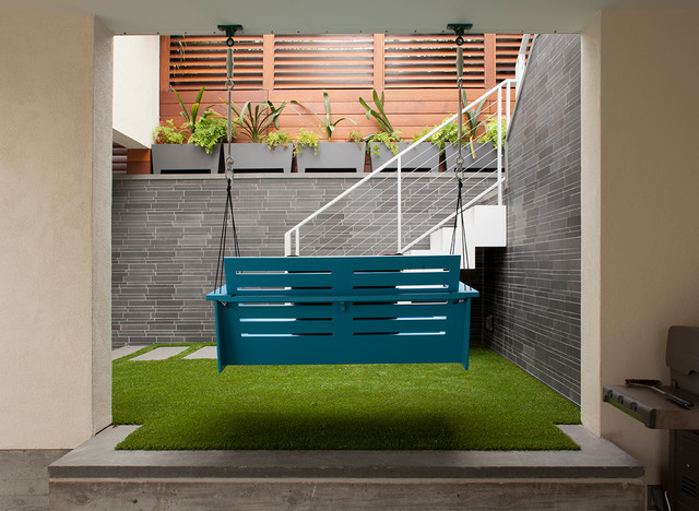 Porch Swing And Exterior Stairs Contemporary Patio
