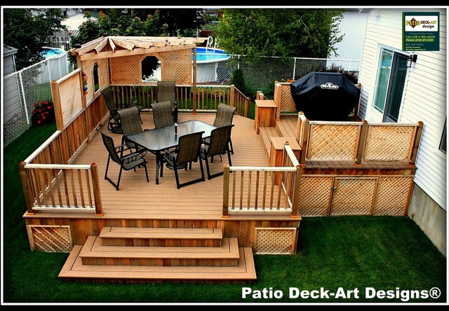 Patio deck art designs outdoor living contemporary for Garden decking design ideas