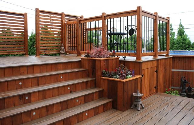 custom trex decks&patios contemporary-patio