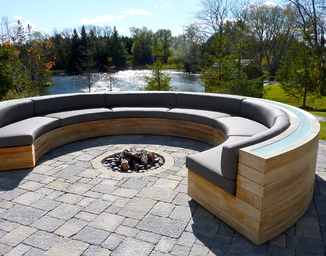 contemporary patio by The Fireplace Specialist