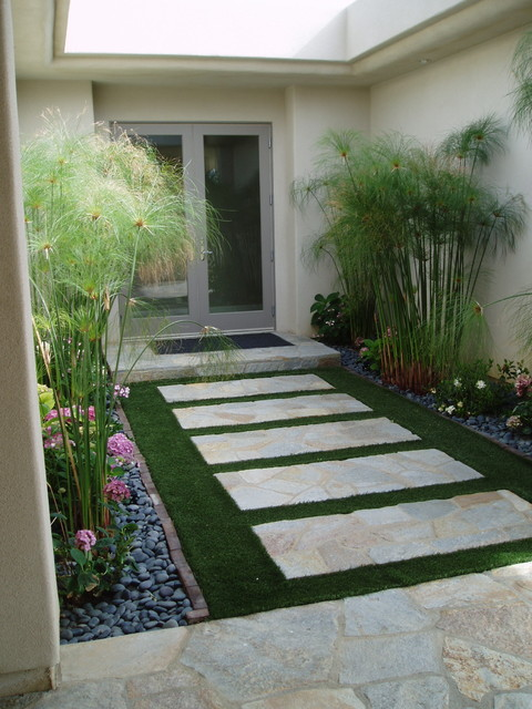 Contemporary rancho santa fe landscape xeriscape for Grass design ideas