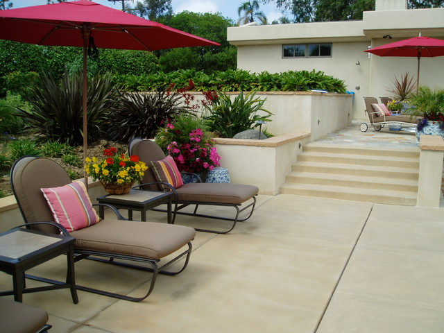 contemporary rancho santa fe landscape - xeriscape contemporary patio