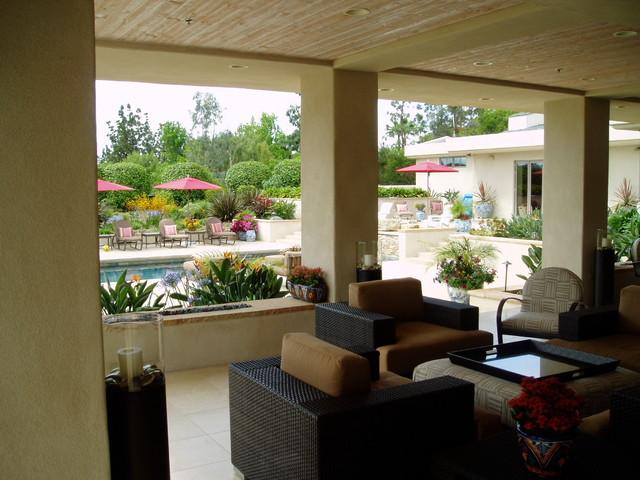 contemporary rancho santa fe landscape - xeriscape contemporary-patio