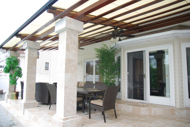 Cooler Deck Retractable Pergola Roof by Breslow Home Design ...