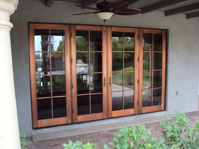 Copper Clad Window : Copper doors after protective coating mediterranean