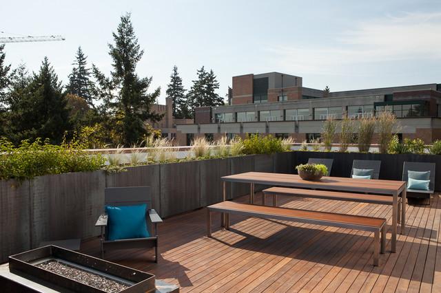 Corten Steel Planters Roof Deck Portland Modern Patio