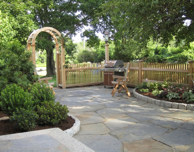 Cottage Patio Landscaping Essex Ma Traditional