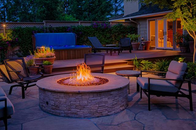 Country Club Home, Los Altos traditional-patio