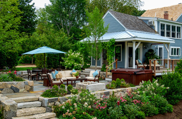 Country Farm House Farmhouse Patio Boston By A