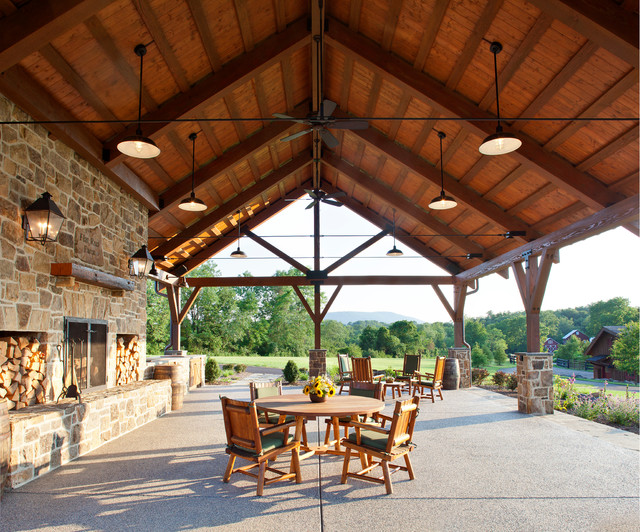 Country Retreat Farmhouse Patio Dc Metro By Rill