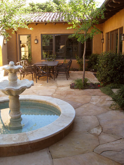 Courtyard mediterranean patio